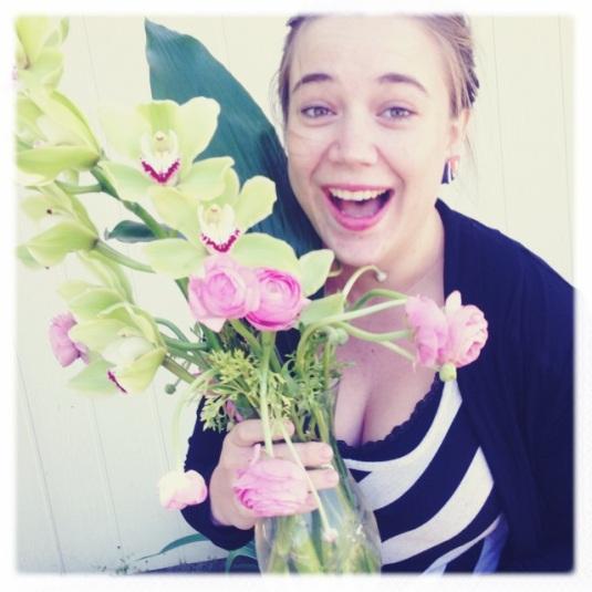 I had flowers...