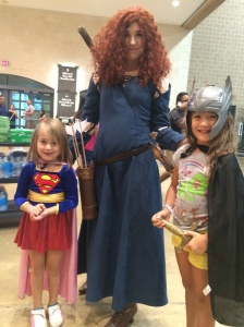 We saw our favorite Scottish hero, Merida, from Brave!