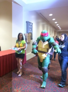 We say all the ninja turtles (even though I could care less, and they actually creep me out) to my husbands delight!