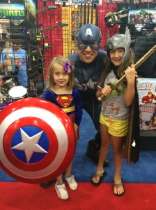 The girls went gaga over Captain America..